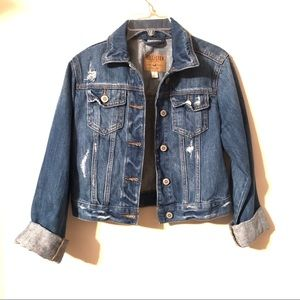 Hollister Cropped Denim Jean Jacket | Size Small